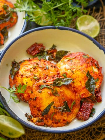 Egg Idli is basically eggs cooked in a an idli pan and then tossed with a spicy masala. It is great healthy dish to make for breakfast. Here is how to make it.