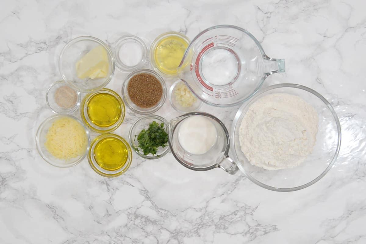 Garlic Knots Ingredients.