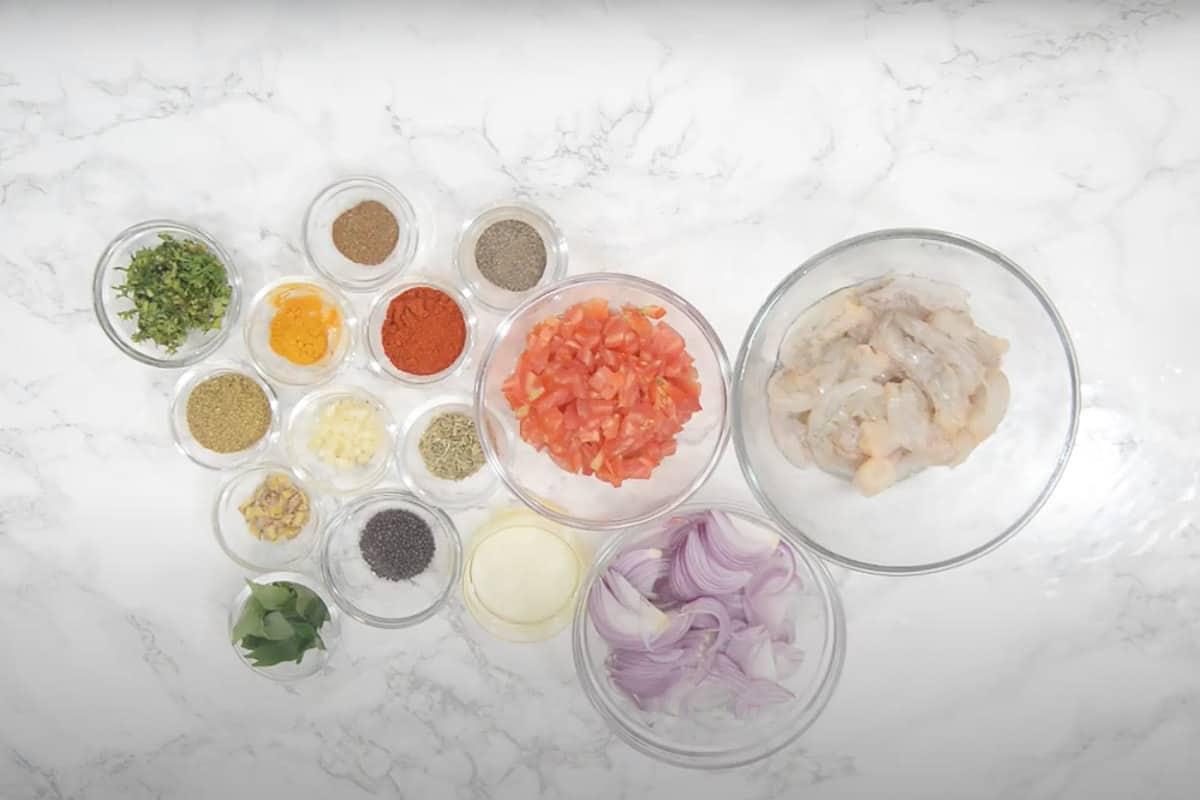 Kerala Prawn Curry Ingredients