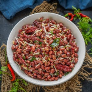 Sundal is a South Indian dish where cooked legumes are flavored with a simple tempering and mixed with freshly grated coconut. Here is a version made using Rajma for you all. Check out the recipe.