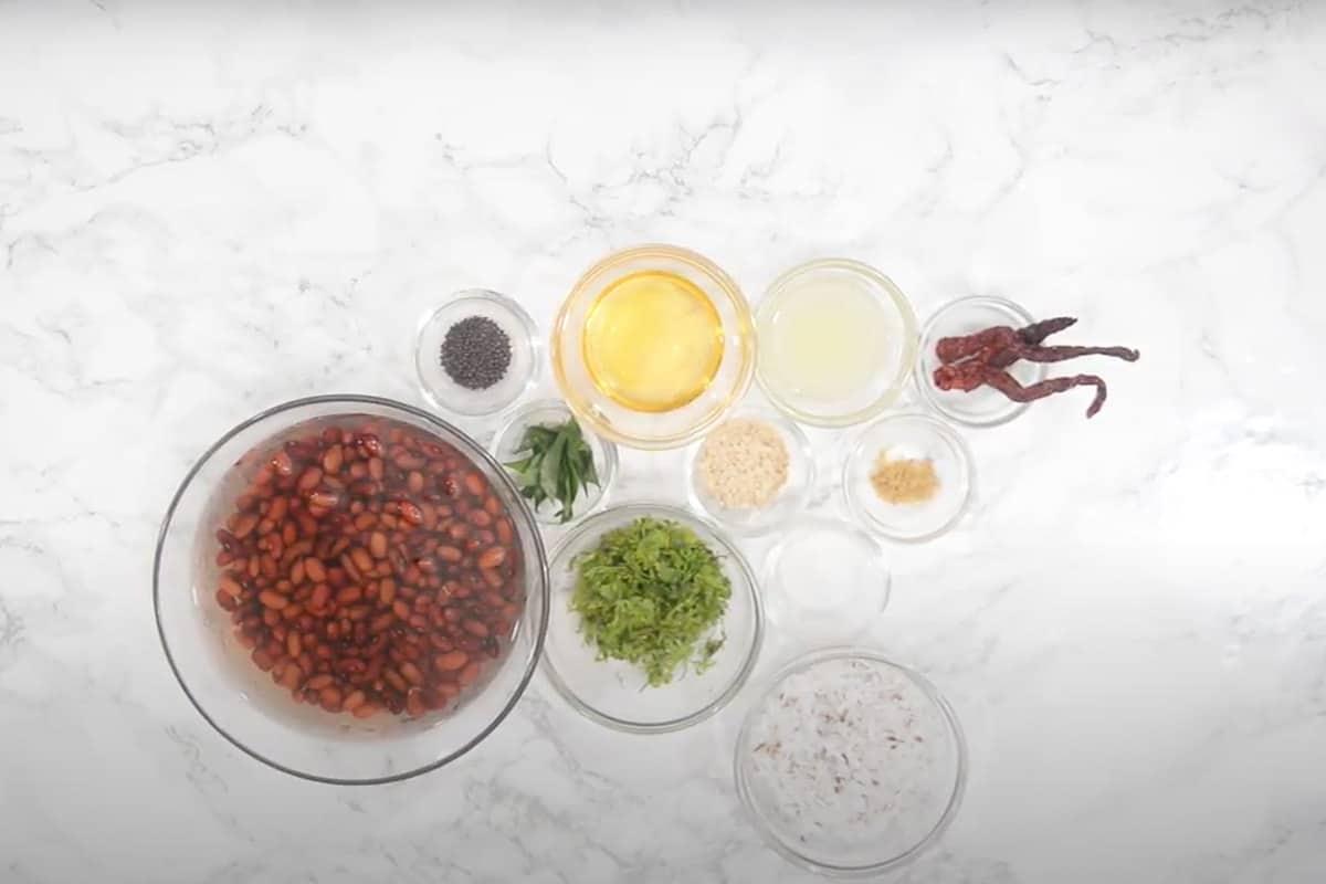 Rajma sundal ingredients