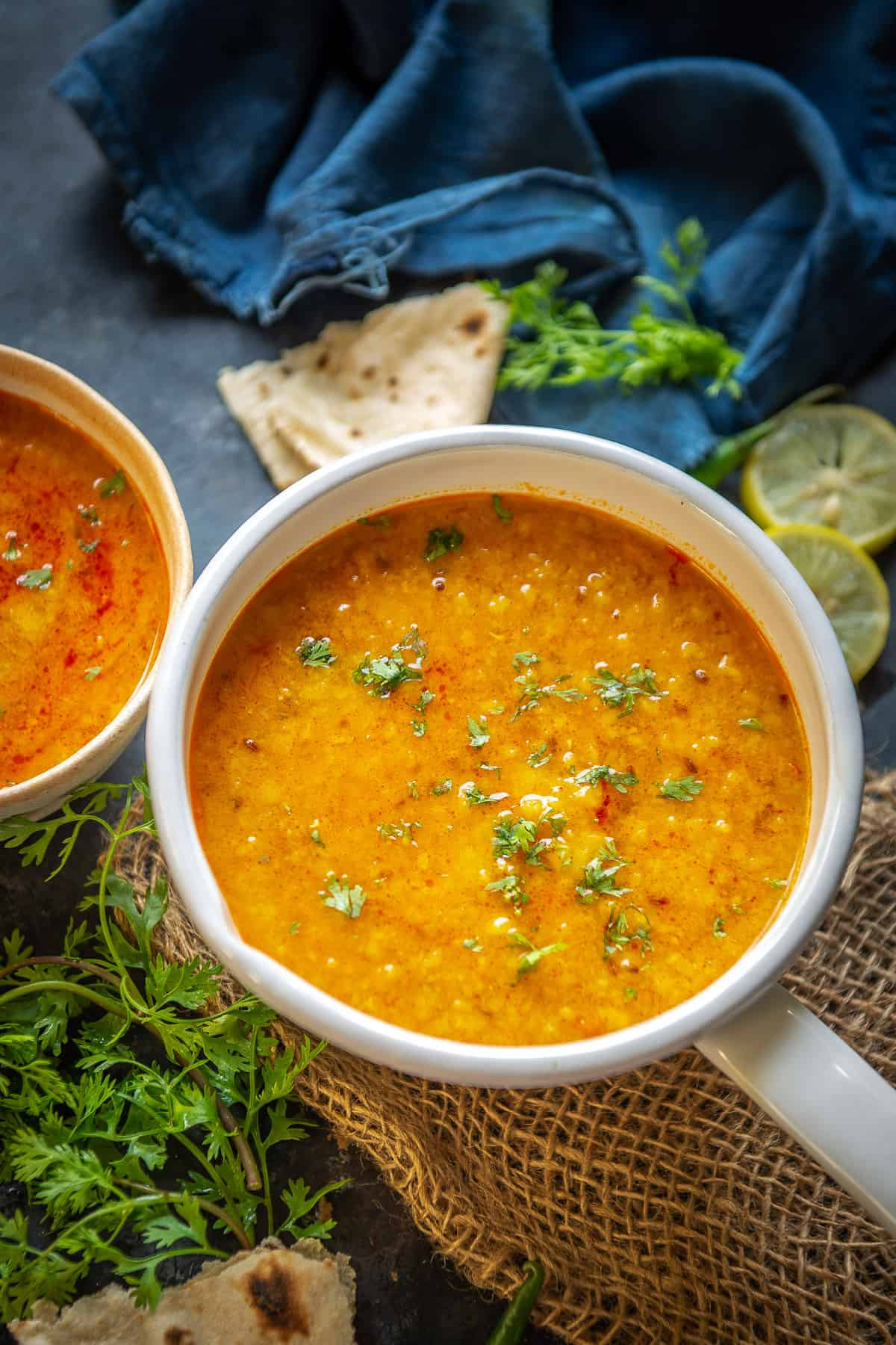 Toor Dal served in a bowl.