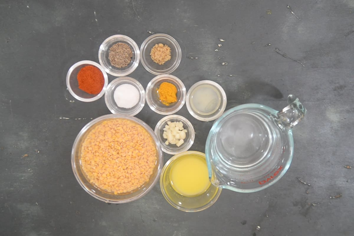 Toor Dal Ingredients