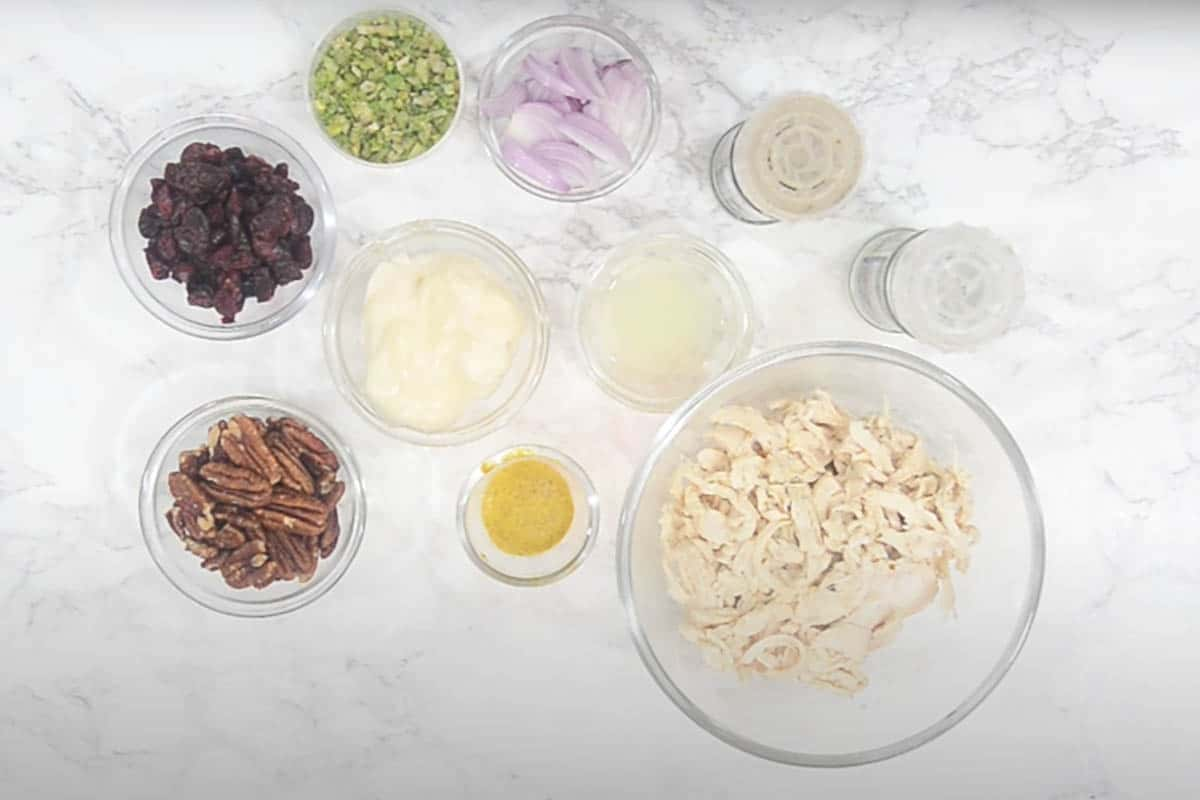Cranberry Chicken Salad Ingredients.