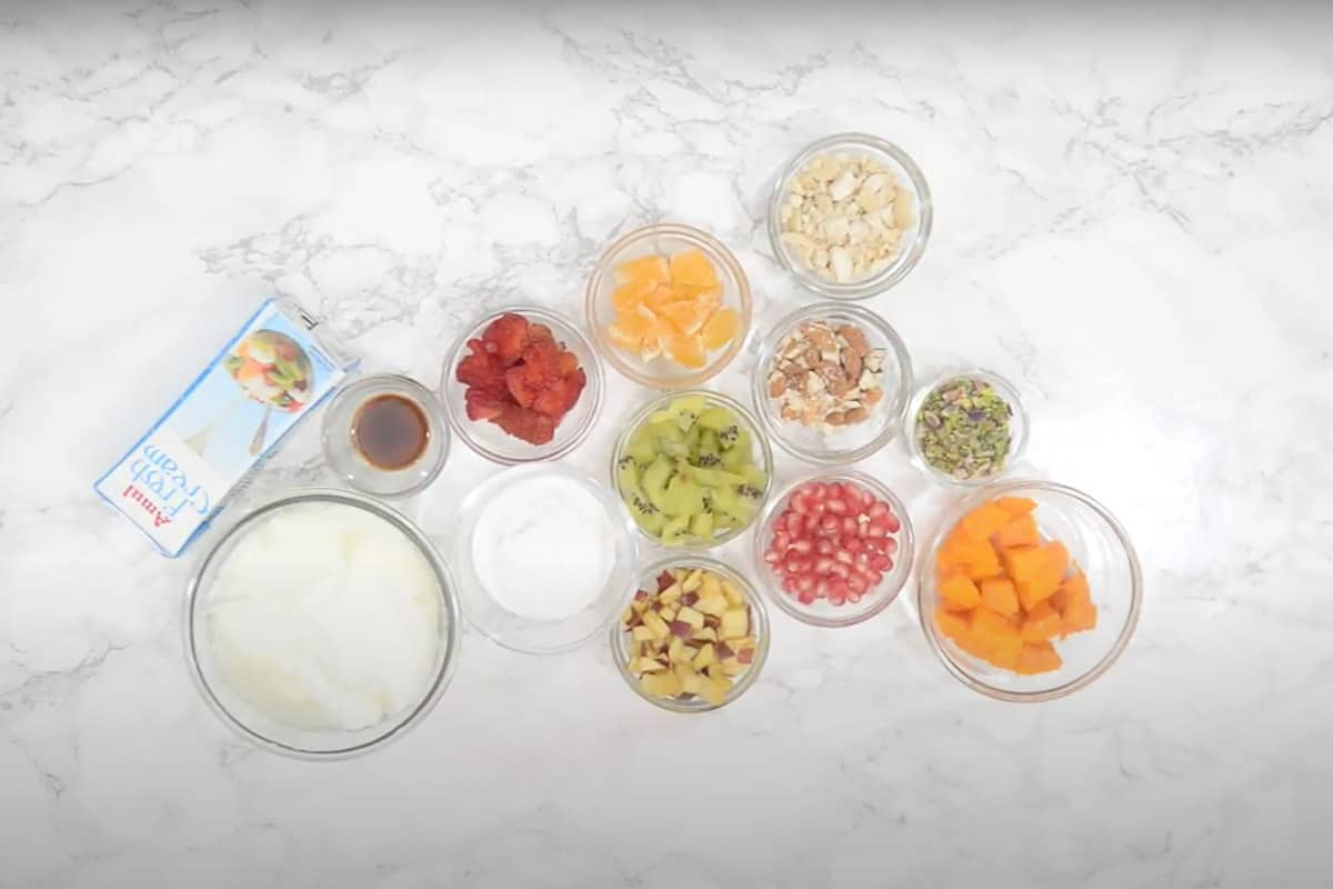 Fruit cream ingredients
