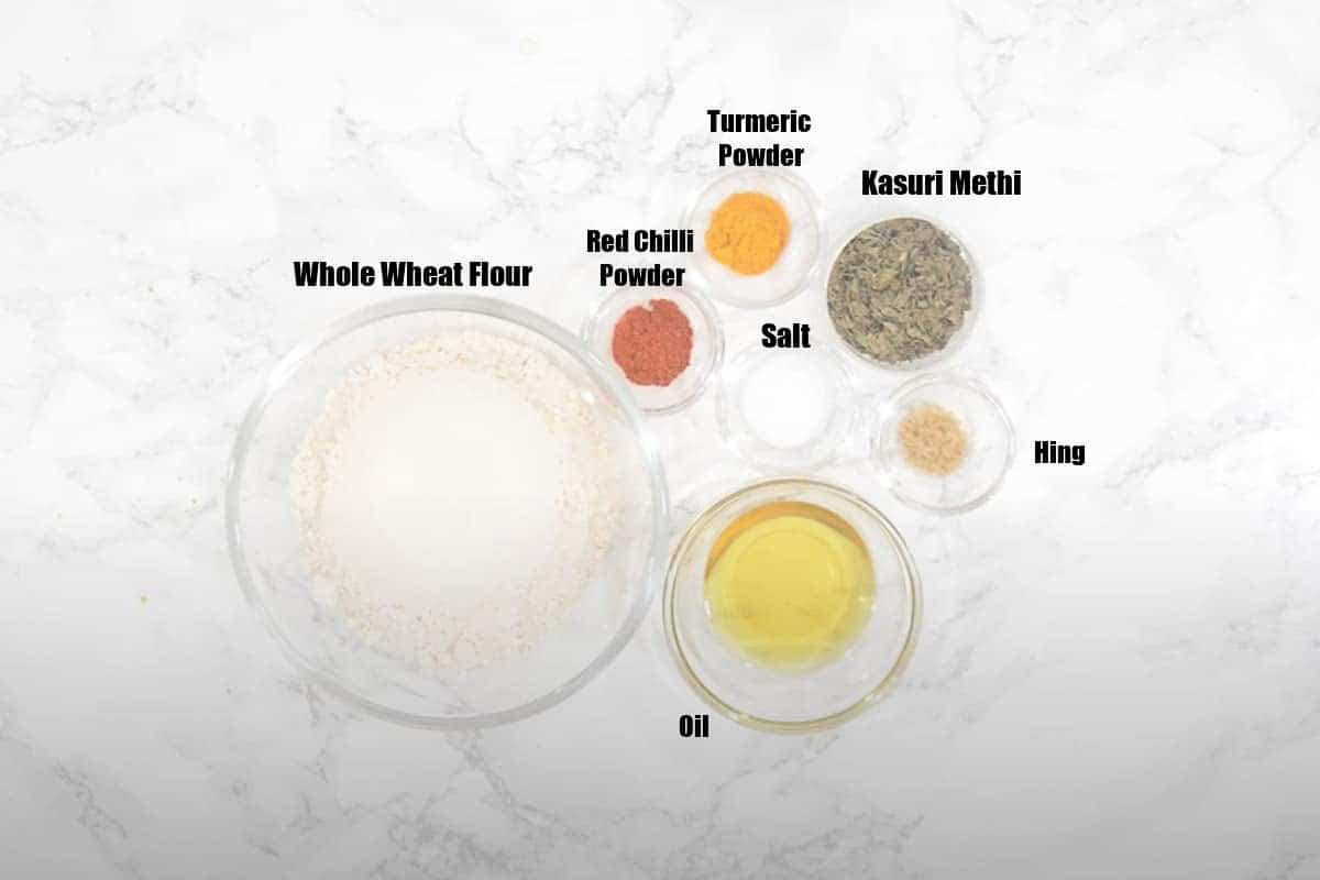 Khakhra Ingredients.