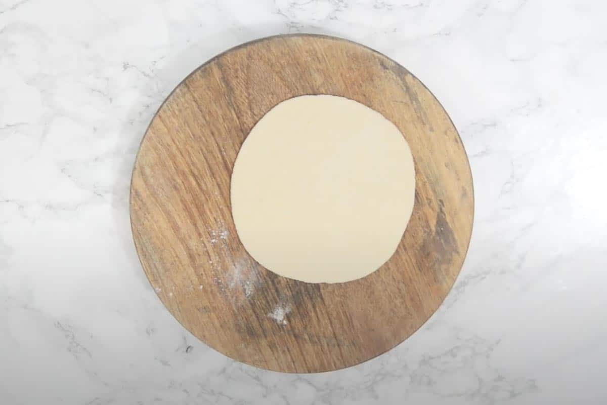 Rolled dough ball