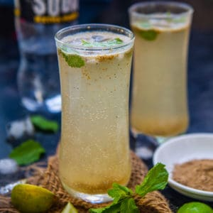 Nimbu Shikanji or Shikanjvi is a refreshing Indian drink made using a spice masala and soda. Here is how to make it at home.