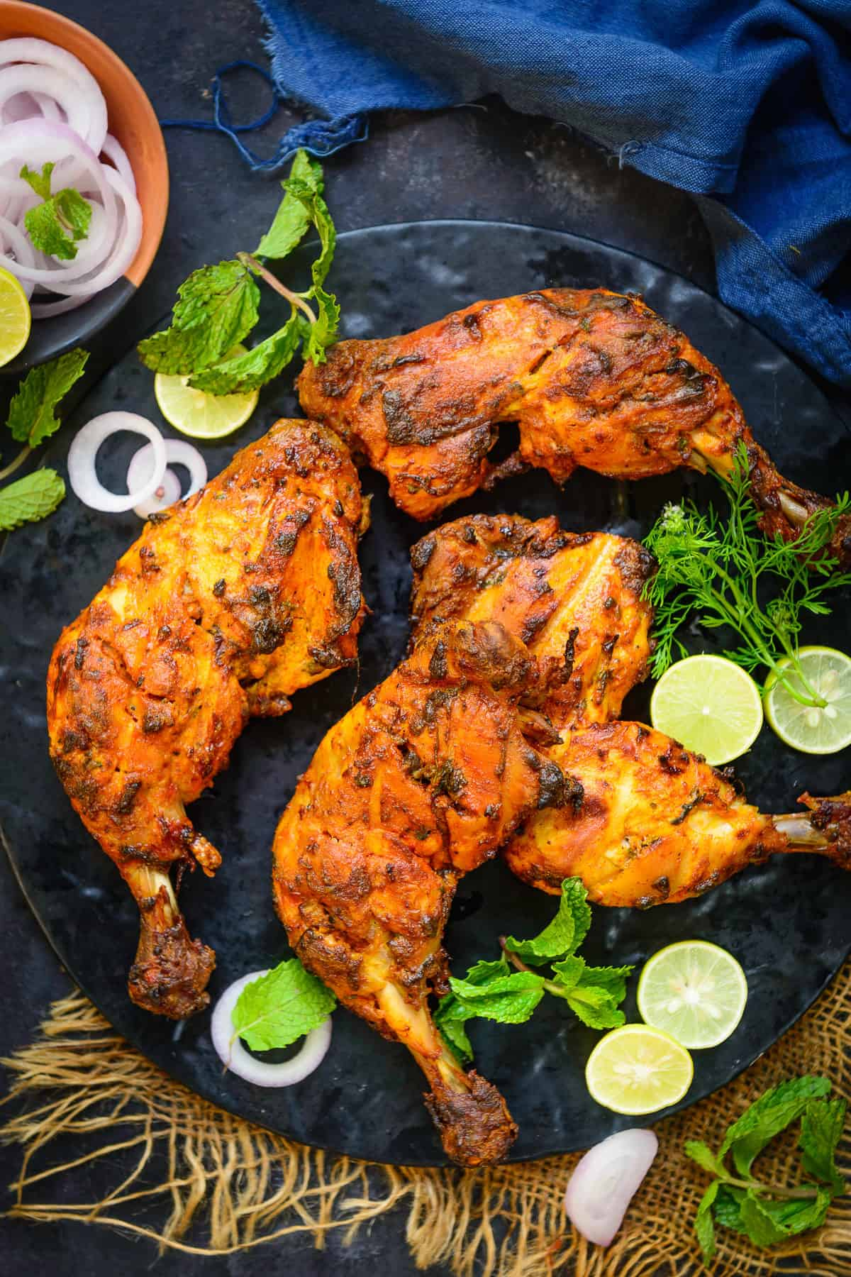 Tandoori Chicken Recipe Step By Step Video Whiskaffair