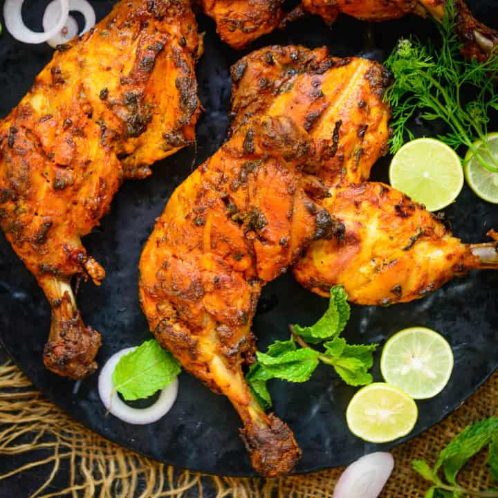 Tandoori Chicken is a lip-smacking, soft, juicy, and flavourful dry chicken dish from the Indian subcontinent, and it happens to be that one dish that a party or gathering just cannot do without.