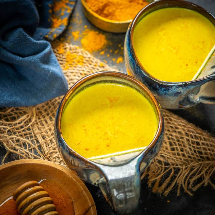 Golden Turmeric Latte is healthy Ayurvedic drink which is perfect for fall and winters. Made using a very few ingredients, this sunshine in a cup is very soothing. Learn to make it.