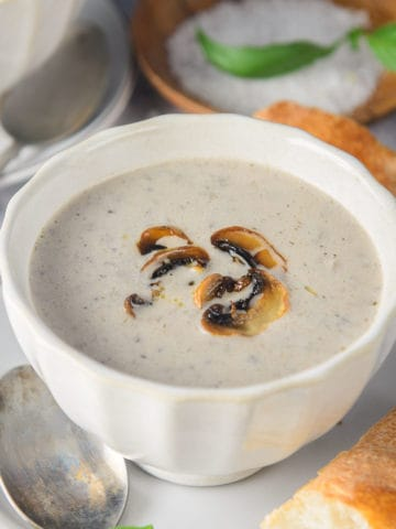 This homemade cream of mushroom soup is packed with flavors and is super easy to make at home from scratch. You will never go back to the canned soup I am promising!