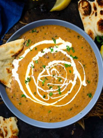 Rich, Creamy, Buttery and so Delicious, Dal Makhani is a Lentil Stew which is one of the most popular dishes in Indian restaurants. Make the best Dal Makhni ever using my easy recipe.