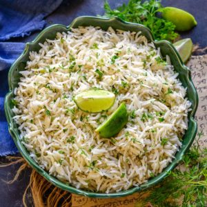Make this super easy and flavorful 20 minutes and 5 ingredients lemon cilantro rice, that tastes just like the one you had at Chipotles. Serve it with your Asian & Mexican meals for a refreshing taste.