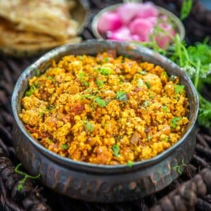 Make this delicious Punjabi paneer bhurji using Indian cottage cheese and a few spices in under 20 minutes. This protein-rich vegetarian dish can be served for breakfast, lunch, or dinner.