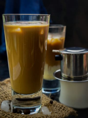 Vietnamese Coffee is a very strong and sweet coffee that is served with condensed milk. This intensely brewed concentrate is creamy, rich, smooth in texture, and has a bold flavor. Here is how to make this coffee recipe with and without using the Vietnamese filter.