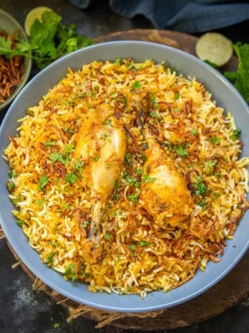 Try out my recipe to make Hyderabadi chicken biryani at home in the most traditional manner. The result is outstanding, I can promise.
