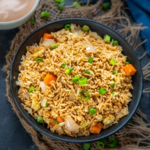 Make this delicious restaurant-style Hibachi Fried Rice or Japanese Fried Rice for a quick Asian inspired meal. Serve it with Hibachi chicken and Yum Yum sauce and get transported to a Japanese Steakhouse.