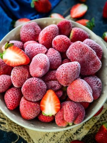 Wondering how to freeze strawberries when they are in season? Read my detailed post below and learn how to freeze these berries at home without getting mushy.