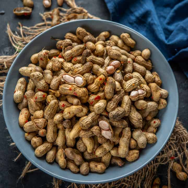 These Instant Pot Boiled Peanuts are an easy to make Southern snack that's so addictive. These are salty, vegan, gluten free, low carb and keto too.