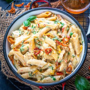This creamy Olive Garden style Instant Pot Tuscan Chicken Pasta is a one-pot pasta recipe that can be easily replicated at home. Make it in under 30 minutes in an Instant Pot for a quick meal.