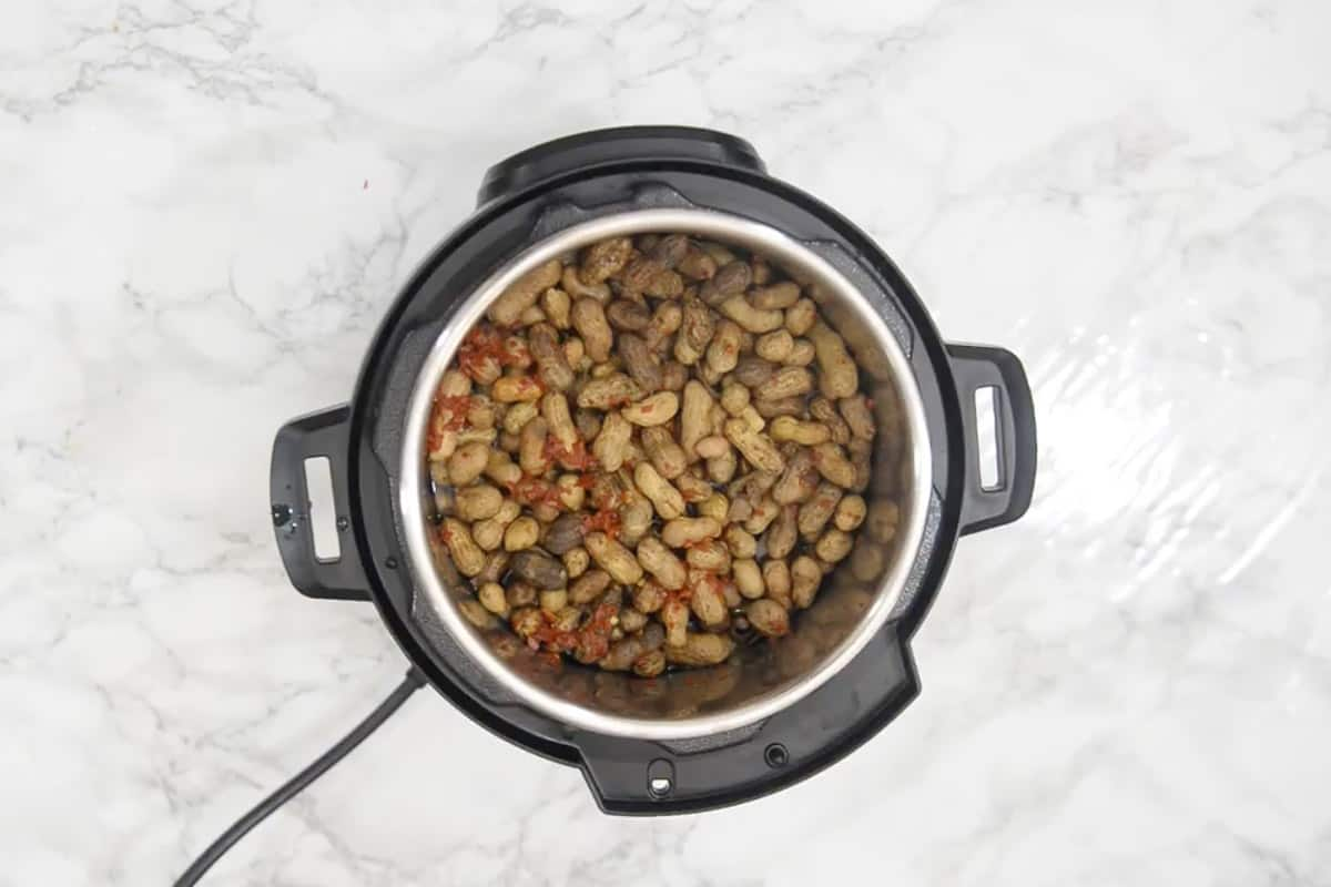 Ready Instant Pot Boiled Peanuts.