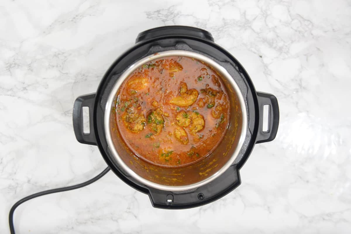 Ready Instant pot chicken curry.