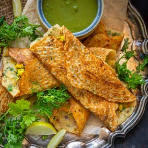 Moong dal chilla, also called pudla or puda is a healthy and delicious moong lentil recipe that can be made for breakfast or snacks (gluten-free, can be made vegan).