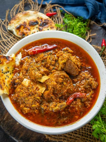 Make this delicious Restaurant Style Mutton Rara curry at home using my simple recipe. It's robust, hearty and so flavorful.