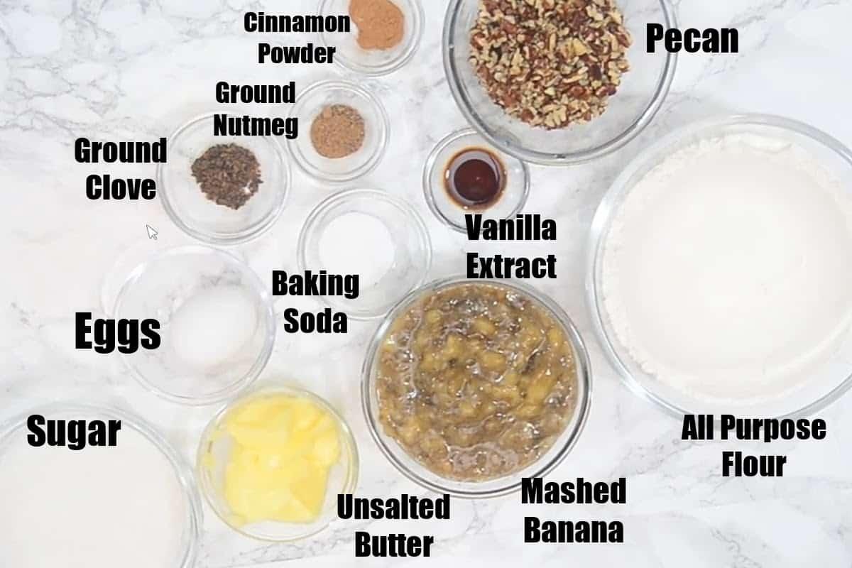 Banana Cookies Ingredients.