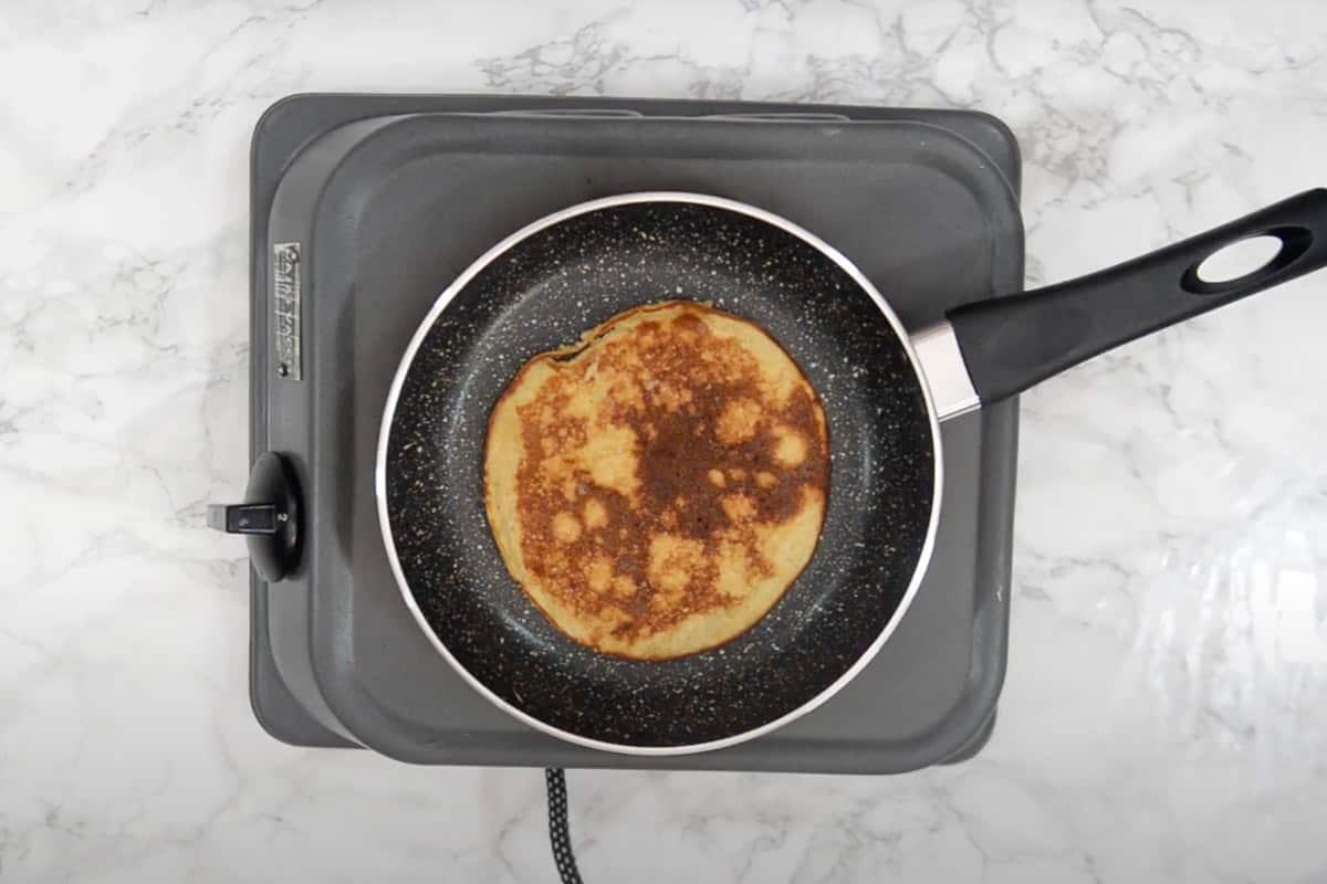 pancake flipped.