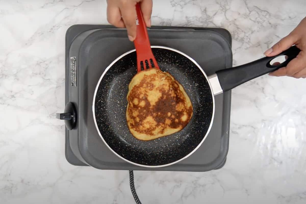 Ready banana oatmeal pancake.