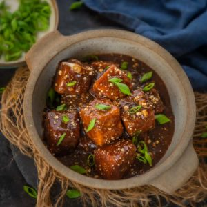 This homemade sweet, spicy, and sticky, General Tso's Tofu is much better than the Chinese takeout and gets done in under 30 minutes. It is loaded with protein and saves you a lot of calories and dollars!