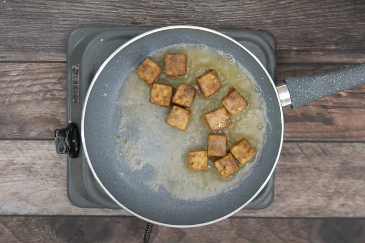 Crispy fried tofu.