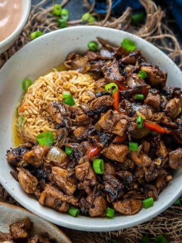 This Japanese steakhouse-style Hibachi chicken makes for a quick, easy, and super delicious dinner. Serve it with fried rice, yum yum sauce, and sauteed veggies for a Hibachi experience at home. Here is how to make it.