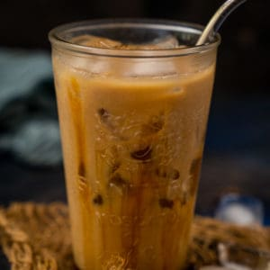 This rich creamy Starbucks copycat Iced Caramel Macchiato is a breeze to make at home. Just 4 ingredients and this coffee drink get ready in under 5 minutes.