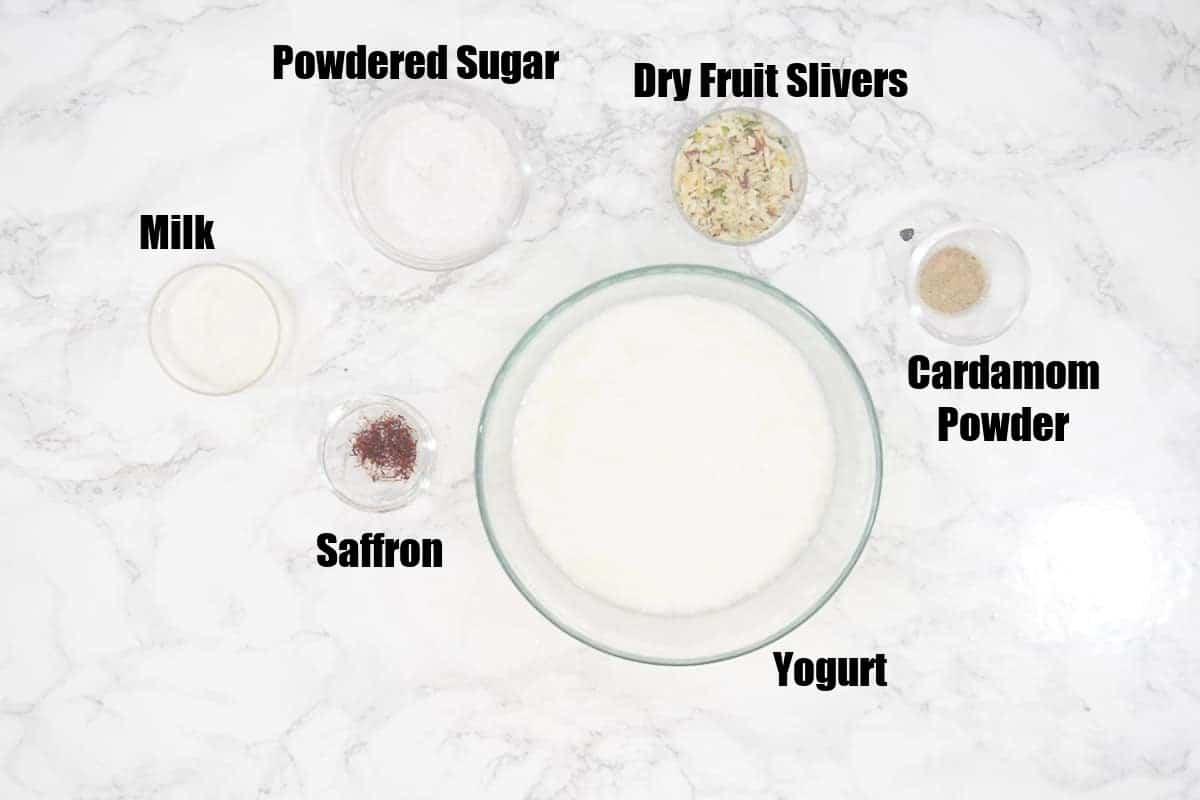 Shrikhand Ingredients.