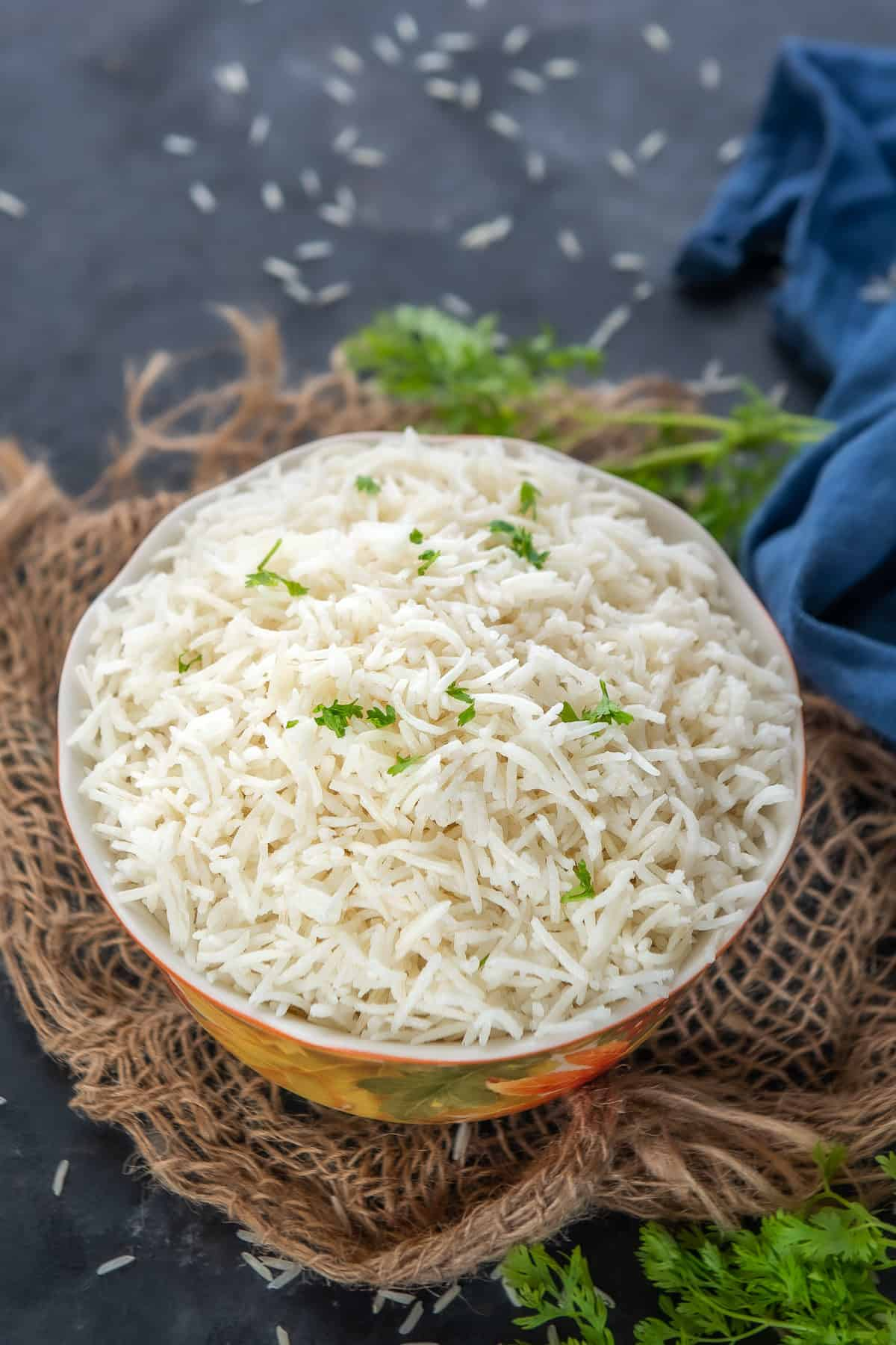 Instant Pot Basmati Rice served in a bowl.