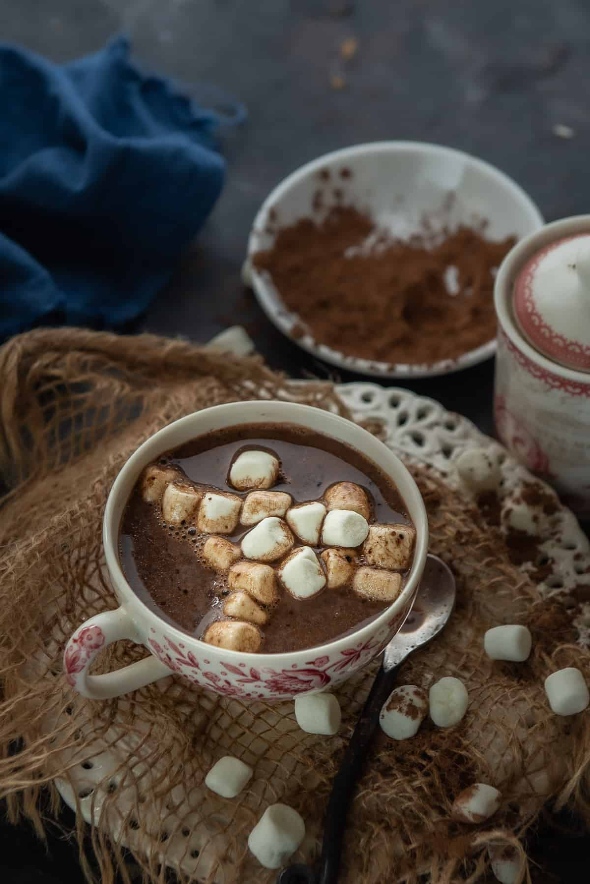 Instant Pot Hot Chocolate served in a cup.