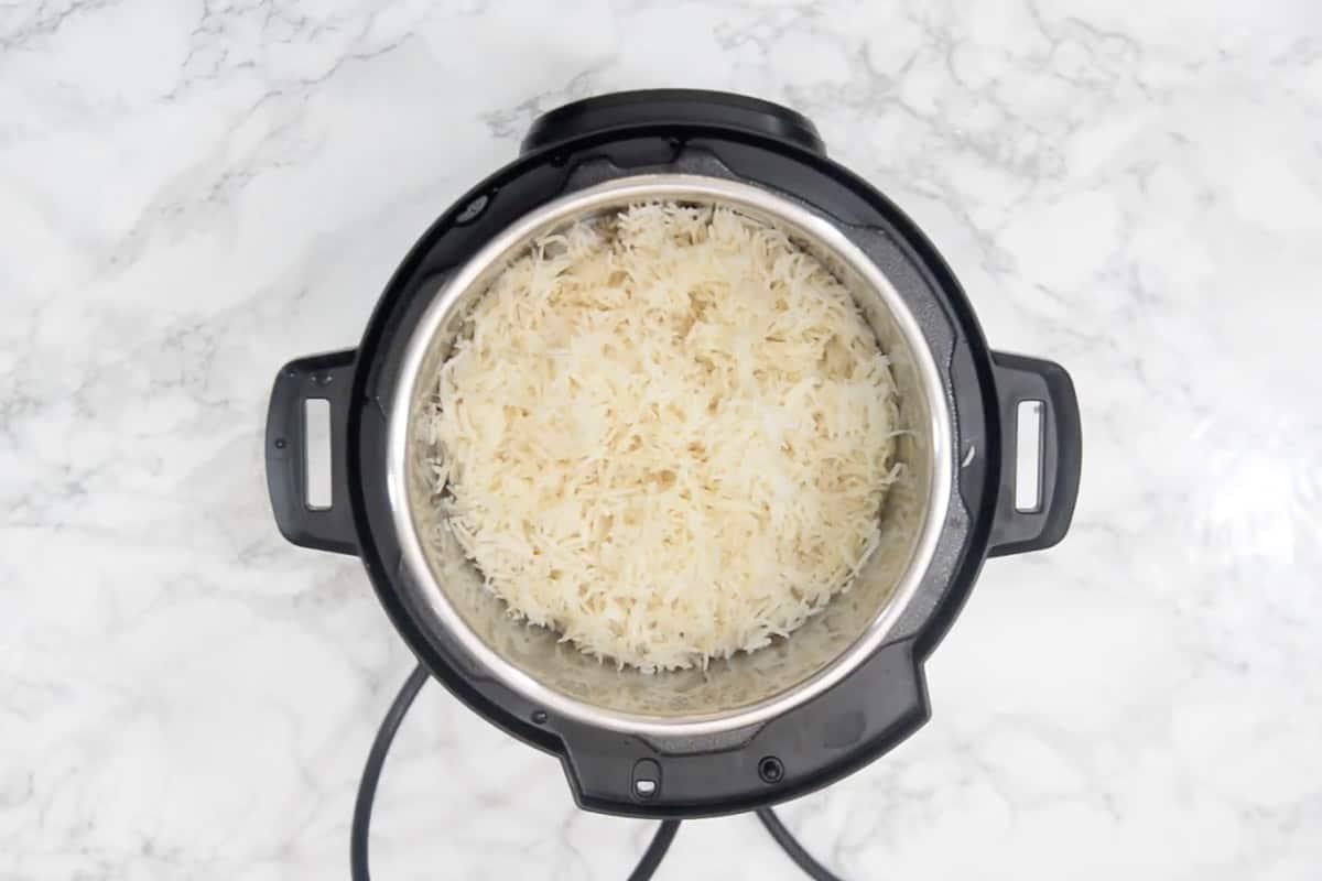 Ready Instant Pot Basmati Rice.