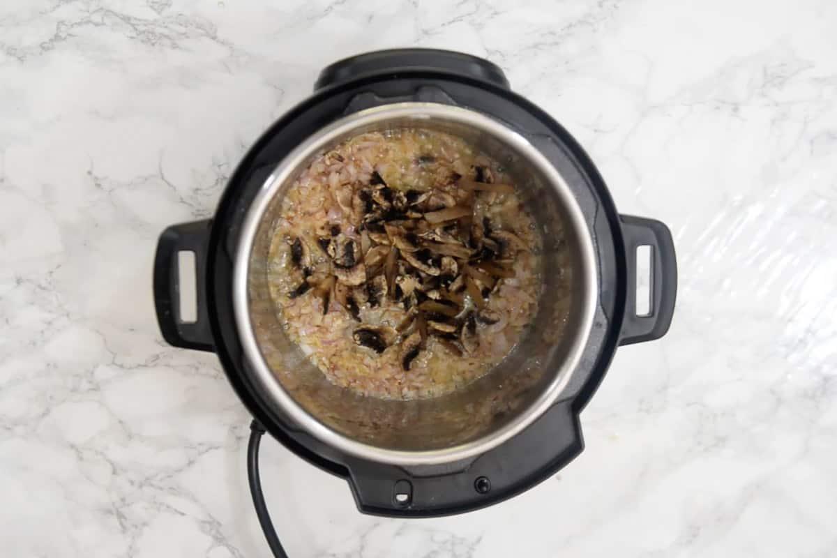 Mushroom added in the pot.