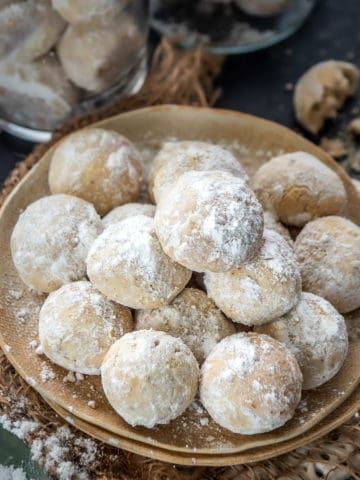 Nutty, Buttery, and Melt in Your Mouth, these Italian Wedding Cookies are a perfect treat to make for holidays, baby shower, or bridal parties.