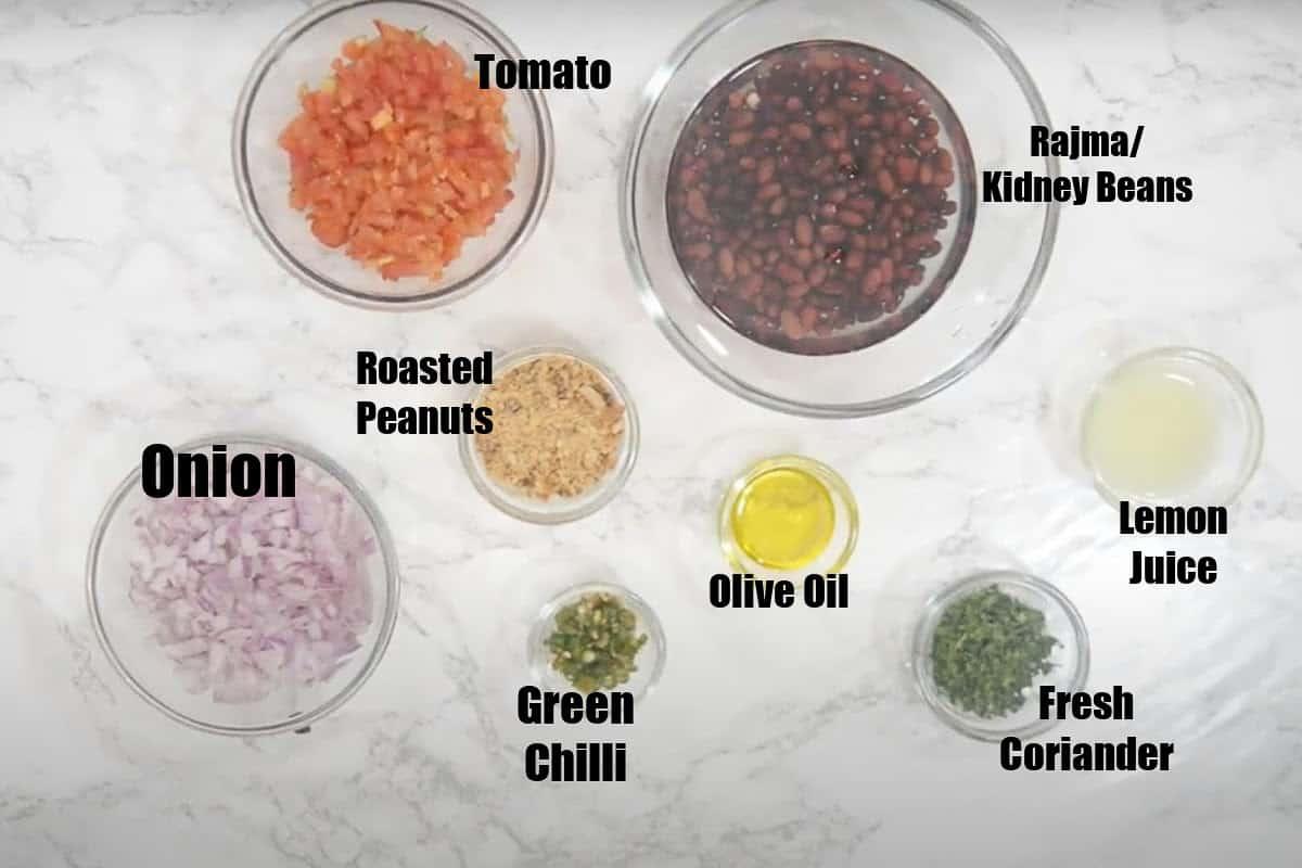Kidney Bean Salad Ingredients.