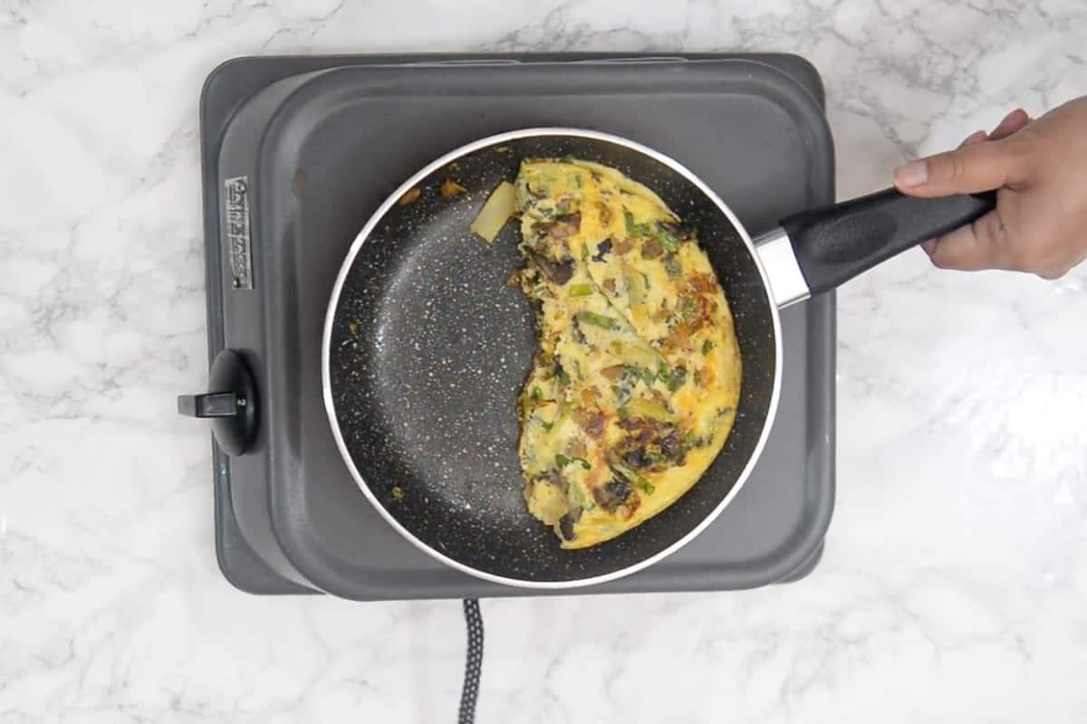 Ready Kimchi Omelette.
