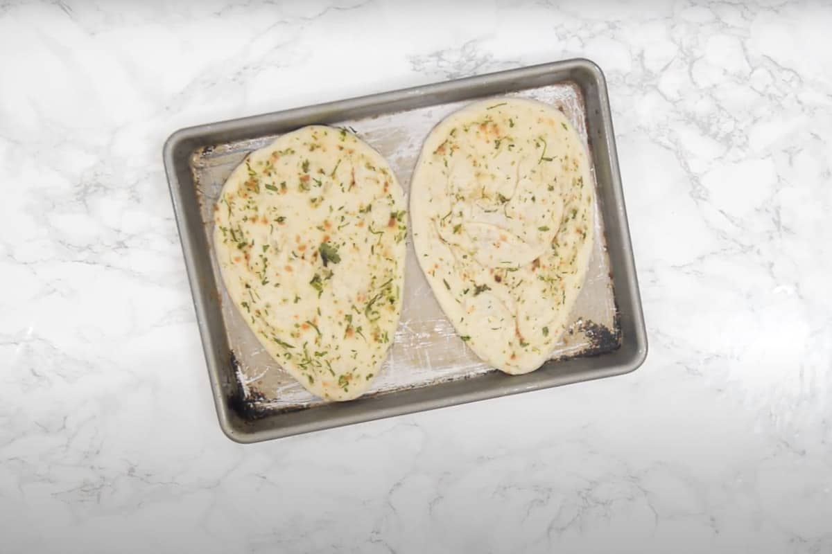 Baked naan.