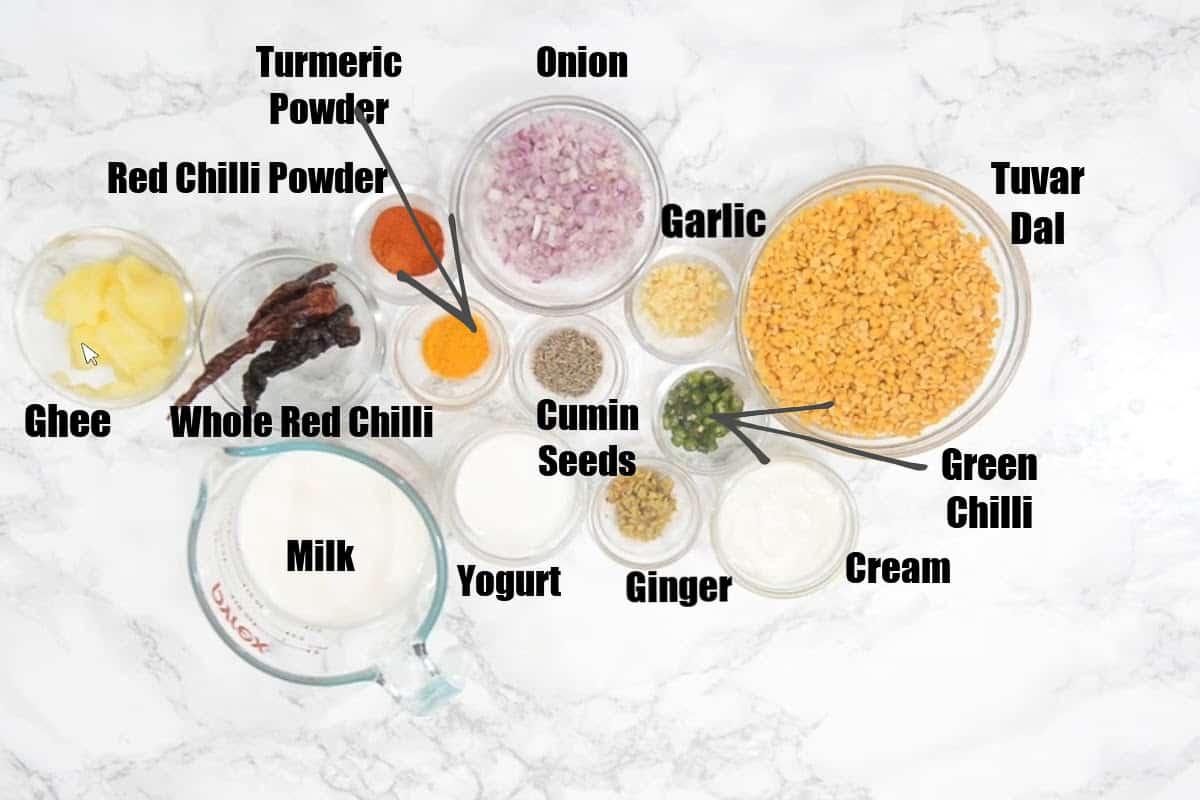 Sultani Dal Ingredients.