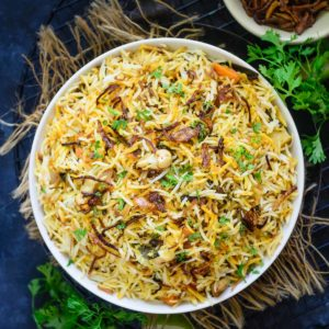 Hyderabadi Veg Biryani or Vegetable Biryani is a delicious medley of succulent vegetables, spices, ghee, saffron, and flavourful basmati rice which no one can resist. The best part is you can make a great restaurant-style version at home easily. Here is how to make it.