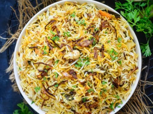 Veg Biryani Recipe Step By Step Video Whiskaffair