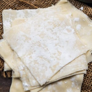 Did you know that making wonton wrappers at home is incredibly easy? Make a big batch, freeze and keep using to make wontons or dumplings with your favorite fillings.