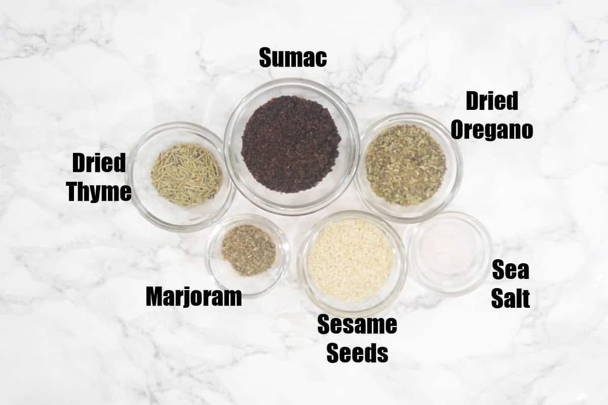 Zaatar Ingredients.